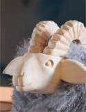 Chair - Decorative Ram / Curly / Gray