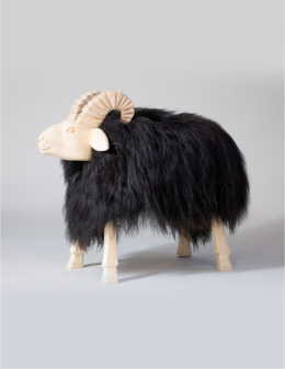 Chair - Decorative Ram / Black