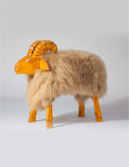 Chair - Decorative Ram / Creamy