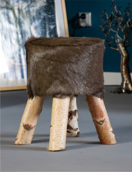 Sheepskin Chair / Black / Short Bristles
