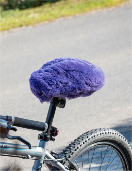 Cover for bicycle saddle / purple